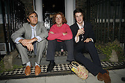 OSCAR HUMPHRIES, MAX MALLOW AND JACK WHITEHALL, The Spectator At Home. Doughty St. 6 July 2006. ONE TIME USE ONLY - DO NOT ARCHIVE  © Copyright Photograph by Dafydd Jones 66 Stockwell Park Rd. London SW9 0DA Tel 020 7733 0108 www.dafjones.com