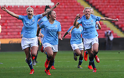 February 23, 2019 - Sheffield, England, United Kingdom - Manchester City players celebrate after winning the League Cup..during the FA Women's Continental League Cup Final football match between Arsenal Women and Manchester City Women at Bramall Lane on February 23, 2019 in Sheffield, England. (Credit Image: © Action Foto Sport/NurPhoto via ZUMA Press)