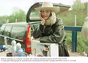 Saffron Aldridge at a Charity car-boot sale. Chelsea football Ground. 20/4/97. film 9715f9<br /> © Copyright Photograph by Dafydd Jones<br /> 66 Stockwell Park Rd. London SW9 0DA<br /> Tel 0171 733 0108