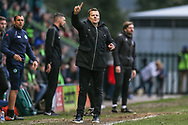Forest Green Rovers manager, Mark Cooper during the EFL Sky Bet League 2 match between Forest Green Rovers and Lincoln City at the New Lawn, Forest Green, United Kingdom on 2 March 2019.