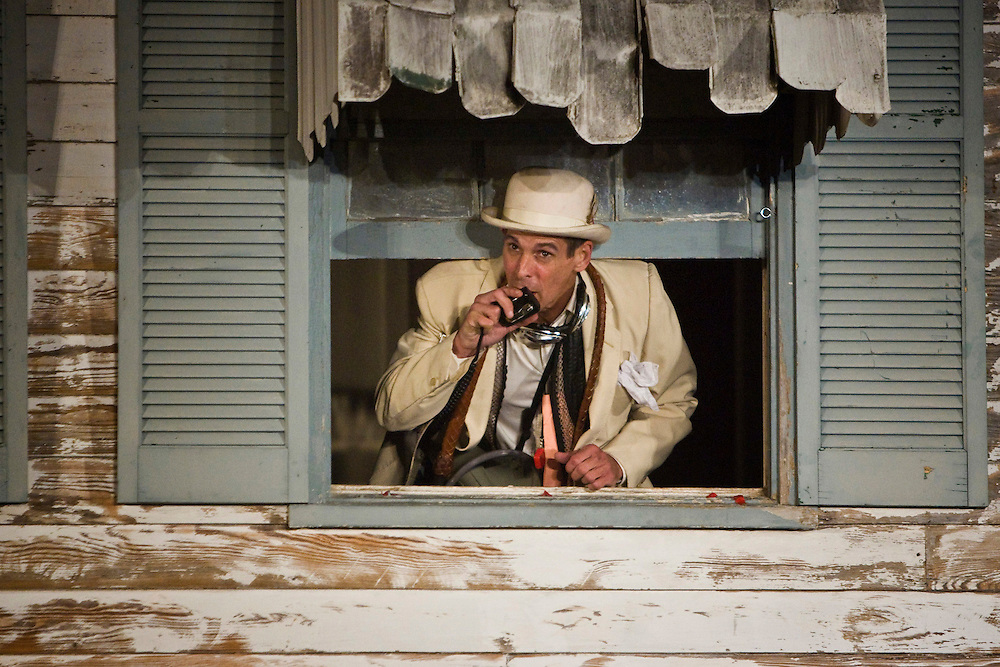 T. Ryder Smith as Pozzo in Samuel Beckett's 'Waiting for Godot' in post-Katrina New Orleans, a project by Paul Chan and co-produced by Creative Time.