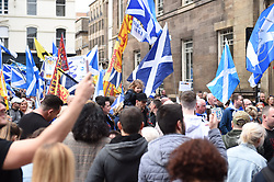 Supporters march through the streets of Glasgow during the All under One Banner Rally, Scottish Independence March, Angie Isac | EEm Thursday 11 May 2017