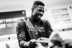 Daniel Edozie of Bristol Flyers in the changing room prior to tippled off - Photo mandatory by-line: Ryan Hiscott/JMP - 17/01/2020 - BASKETBALL - SGS Wise Arena - Bristol, England - Bristol Flyers v London City Royals - British Basketball League Championship