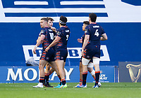 Rugby Union - 2021 Guinness Pro14 Rainbow Cup - Northern Group - Edinburgh vs Glasgow Warriors - Murrayfield<br /> <br /> Chris Dean of Edinburgh Rugby scores the opening try of the game to make it 5-0<br /> <br /> Credit : COLORSPORT/BRUCE WHITE