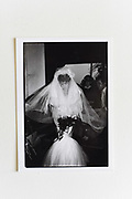 CLARISSA BARING  arriving at her wedding. Used april 1987.