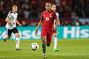 João Mario of Portugal, during the match against Austria, valid for the European Championship Group F 2016 in the Parc des Princes stadium in Paris on Saturday 18. The game ended 0 to 0.
