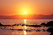 sunset over False Bay, <br /> Simons Town, <br /> Cape of Good Hope,<br /> South Africa