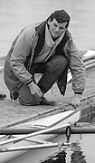 Staines, GREAT BRITAIN,   <br /> Derek CLARK. <br /> British Rowing Women's Heavy Weight Assessment. Thorpe Park. Sunday 21.02.1988,<br /> <br /> [Mandatory Credit, Peter Spurrier / Intersport-images] 1987 GBR Women's H/Weight Assesment Thorpe Park, Surrey.UK
