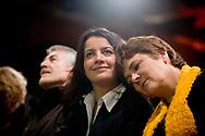 14012010. Montreuil. Meeting de lancement de campagne d'Europe Žcologie pour les Žlections rŽgionales 2010. DUFLOT CŽcile, VOYNET Dominique.