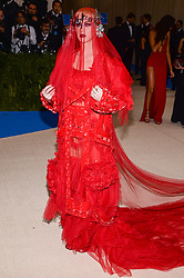 Katy Perry arriving at The Metropolitan Museum of Art Costume Institute Benefit celebrating the opening of Rei Kawakubo / Comme des Garcons : Art of the In-Between held at The Metropolitan Museum of Art  in New York, NY, on May 1, 2017. (Photo by Anthony Behar) *** Please Use Credit from Credit Field ***