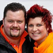 NLD/Amsterdam/20100430 - Radio 538 Koniginnedag Concert 2010, Frans Duijts en partner Marloes Overgaauw