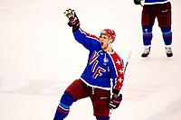 Ishockey , 29.12.2012, Eliteserien , GET-Ligaen<br /> Vålerenga - Storhamar<br /> Vålerengas Daniel Sørvik jubler for sitt mål til 5-2 <br /> Foto: Sjur Stølen , Digitalsport