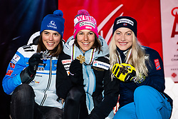 February 8, 2019 - …Re, SWEDEN - 190208 Petra Vlhova of Slovakia, Wendy Holdener of Switzerland and Ragnhild Mowinckel of Norway celebrates at the medal ceremony for the women's combination during the FIS Alpine World Ski Championships on February 8, 2019 in Ã…re  (Credit Image: © Daniel Stiller/Bildbyran via ZUMA Press)