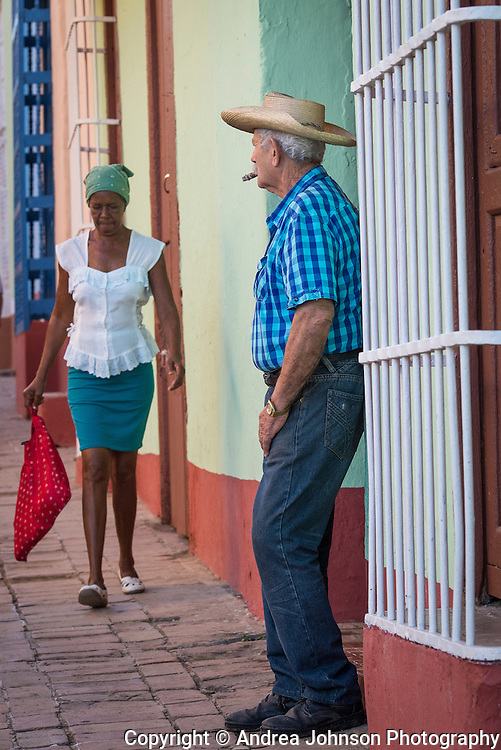 Colorful characters and buildings on nearly every treet corner in Trinidad, Cuba