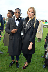 TINIE TEMPAH and FRANCESCA HERBERT at the 2013 Hennessy Gold Cup at Newbury Racecourse, Berkshire on 30th November 2013.