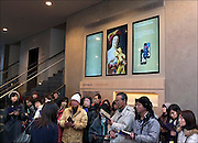 Nederland, Den Haag, 8-2-2015Museum Het Mauritshuis wordt druk bezocht door mensen uit binnen en buitenland. Ook veel uit china en japan, azie.Publiekstrekkers zijn Het meisje met de parel van Johannes Vermeer en de stier van Paulus Potter. Ook het puttertje trekt veel belangstelling.FOTO: FLIP FRANSSEN/ HOLLANDSE HOOGTE