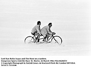 Lord Xan Rufus Isaacs and Tim Hunt. Dangerous Sports Club Ski Race. St. Moritz. 26 March 1984. Film 84204f33<br />