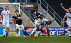 Livingston Marvin Bartley and Falkirk's Charlie Telfer. Falkirk 1 v 1 Livingston, Livingston win 4-3 on penalties. BetFred Cup game played 13/7/2019 at The Falkirk Stadium.