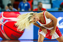 Cheerleader during basketball match between Croatia vs Macedonia at Day 4 in Group C of FIBA Europe Eurobasket 2015, on September 8, 2015, in Arena Zagreb, Croatia. Photo by Matic Klansek Velej / Sportida