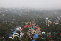 July 31, 2018 - Thiruvananthapuram, Kerala, India - Thick fog covers the city of Thiruvananthapuram (Trivandrum), Kerala, India during the monsoon season on August 01, 2018. (Credit Image: © Creative Touch Imaging Ltd/NurPhoto via ZUMA Press)