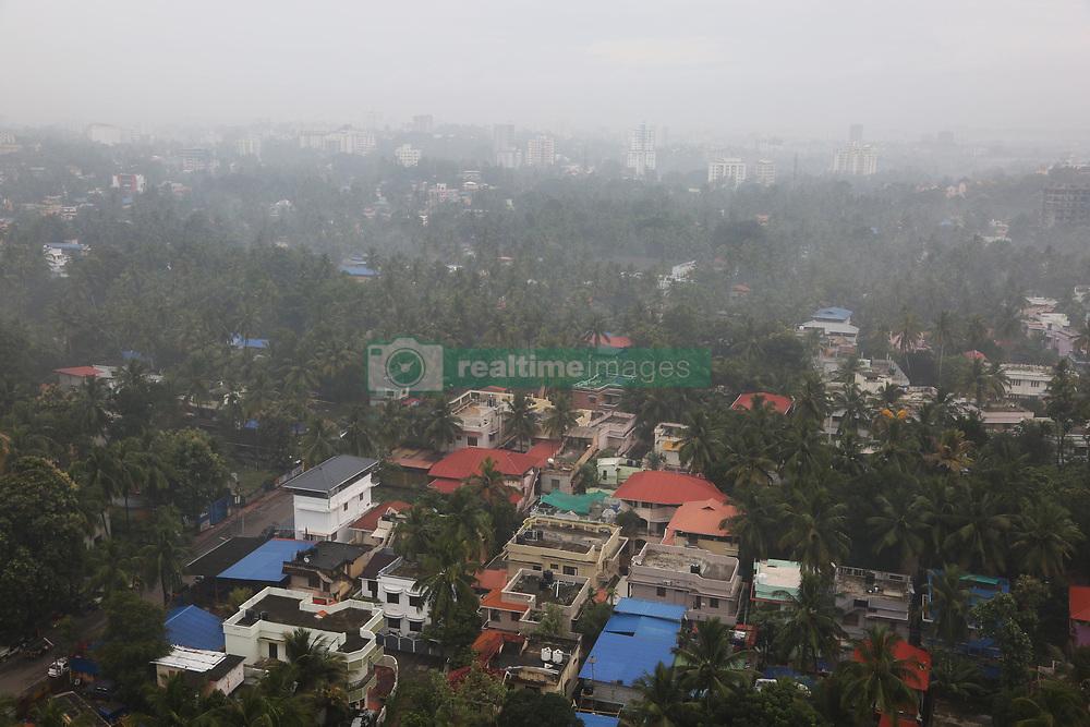 July 31, 2018 - Thiruvananthapuram, Kerala, India - Thick fog covers the city of Thiruvananthapuram (Trivandrum), Kerala, India during the monsoon season on August 01, 2018. (Credit Image: © Creative Touch Imaging Ltd/NurPhoto via ZUMA Press)