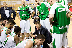 Gasper Okorn, head coach of KK Union Olimpija during basketball match between KK Union Olimpija and KK Rogaska in 2nd Final game of Liga Nova KBM za prvaka 2016/17, on May 19, 2017 in Hala Tivoli, Ljubljana, Slovenia. Photo by Vid Ponikvar / Sportida