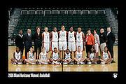2006 Miami Hurricanes Women's Basketball Team Photo