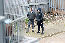 © Licensed to London News Pictures. 03/02/2020. London, UK. A group of travellers have occupied vacant land in Alperton, North West London. It is reported the land owners have applied to the court for the evection of the travellers. Photo credit: London News Pictures