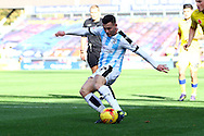 Harry Bunn of Huddersfield Town shoots at goal  but the keeper saves. Skybet football league Championship match, Huddersfield Town v Leeds United at the John Smith's Stadium in Huddersfield, Yorks on Saturday 7th November 2015.<br /> pic by Chris Stading, Andrew Orchard sports photography.