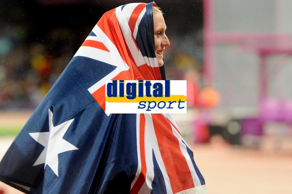 LONDON OLYMPIC GAMES 2012 - OLYMPIC STADIUM , LONDON (ENG) - 07/08/2012 - PHOTO : POOL / KMSP / DPPI<br /> ATHLETICS - WOMEN'S 100 M HURDLES - GOLD MEDAL - SALLY PEARSON (AUS)
