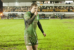 March 3, 2017 - Galway, Ireland - Kieran Marmion of Connacht goes to the locker room after the Guinness PRO12 rugby match between Connacht Rugby and Zebre Rugby at the Sportsground in Galway, Ireland on March 3, 2017  (Credit Image: © Andrew Surma/NurPhoto via ZUMA Press)