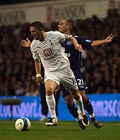 Photo: Tony Oudot.<br /> Tottenham Hotspur v Everton. The Barclays Premiership. 14/08/2007.<br /> Robbie Keane of Tottenham goes past Leon Osman of Everton