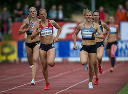 29.05.2016, Moeslestadion, Goetzis, AUT, 42. Hypo Meeting Goetzis 2016, Siebenkampf der Frauen, 800 Meter, im Bild v. l. Ivona Dadic (AUT), Jennifer Oeser (GER) Lilli Schwarzkopf (GER) // Ivona Dadic of Austria ( L ) Jennifer Oeser of Germany ( C ) Lilli Schwarzkopf of Germany ( R ) during the 800 metres event of the Heptathlon competition at the 42th Hypo Meeting at the Moeslestadion in Goetzis, Austria on 2016/05/29. EXPA Pictures © 2016, PhotoCredit: EXPA/ Peter Rinderer