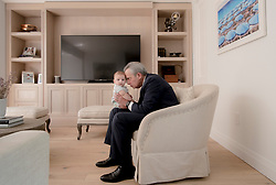 Tony Argiz, chairman and CEO of MBAF, spends time with his four-month old grandson Max.