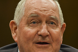 June 13, 2017 - Washington, District of Columbia, U.S - Secretary of Agriculture Sonny Purdue testifies in front of the Senate Appropiations Subcommittee (Credit Image: © Mark Reinstein via ZUMA Wire)