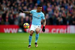 31 December 2017 -  Premier League - Crystal Palace v Manchester City - Gabriel Jesus of Manchester City - Photo: Marc Atkins/Offside