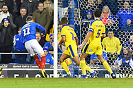 Goal - Ronan Curtis (11) of Portsmouth scores the winning goal to make the score 2-1 during the EFL Sky Bet League 1 match between Portsmouth and AFC Wimbledon at Fratton Park, Portsmouth, England on 1 January 2019.