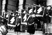 Hitler Youth in front of the Town Hall in Tomaszow, Poland, May 1941.