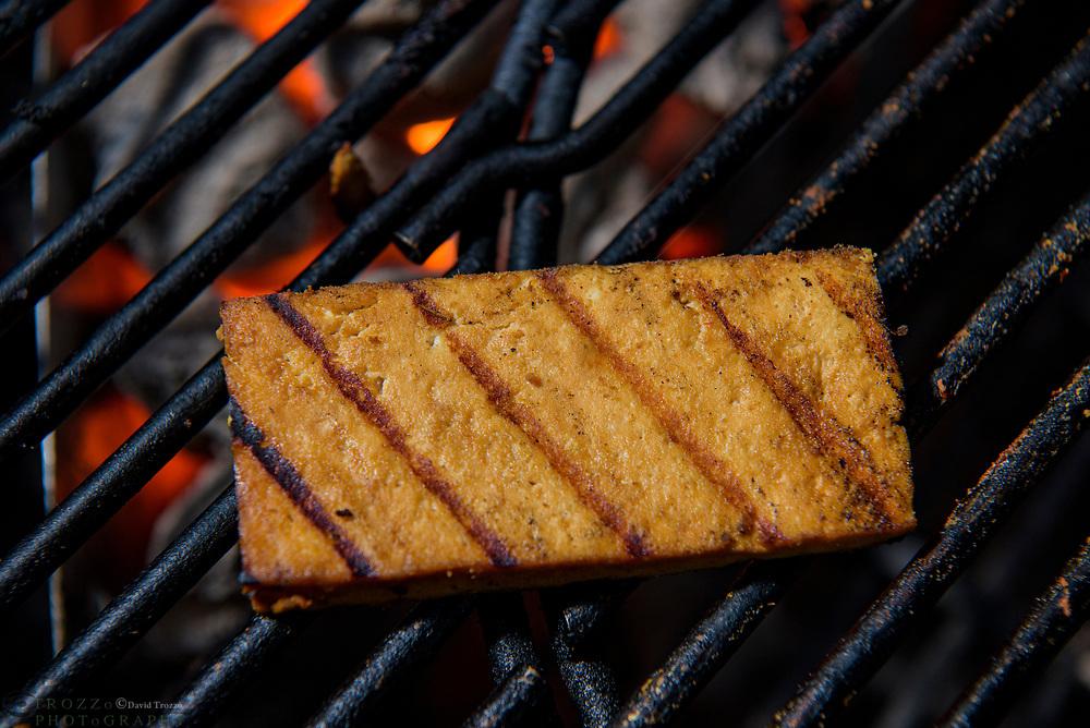 Grilled marinated tofu.