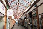 The nineteenth century Victoria Arcade covered shopping area, Great Yarmouth, Norfolk, England