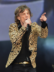 File photo dated 06/07/13 of Mick Jagger, who has joked that he has had extra rain coats made for when the Rolling Stones embark on their UK tour in May and June.