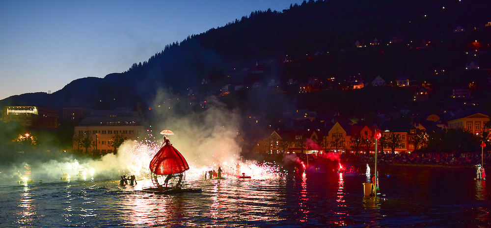 """""""Water Fools,"""" a midnight circus; Bergen, Norway."""