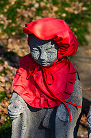"""Jizo at Joshinji - """"Jizo"""" images and statues are popular in Japan as Bodhisattva who console beings awaiting rebirth as well as comfort for travelers. As such they are often found along roadsides, paths or even street corners."""