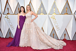 Ashley Judd and Mira Sorvino walking the red carpet as arriving to the 90th annual Academy Awards (Oscars) held at the Dolby Theatre in Los Angeles, CA, USA, on March 4, 2018. Photo by Lionel Hahn/ABACAPRESS.COM