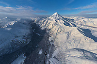 Aerial view of Vilyuchinsky stratovolcano, Kamchatka, Russia
