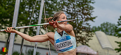 26.05.2018, Moeslestadion, Götzis, AUT, 45. Hypo Meeting Goetzis, Siebenkampf Damen, im Bild Geraldine Ruckstuhl (SUI) beim Speerwurf // Geraldine Ruckstuhl of Switzerland during the women javelin of the 45th Hypo Athletics Meeting at the Moeslestadion in Götzis, Austria on 2018/05/26. EXPA Pictures © 2019, PhotoCredit: EXPA/ Peter Rinderer