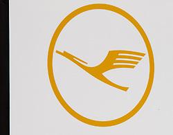 THEMENBILD - das Logo der Lufthansa Fluggesellschaft am Flughafen Innsbruck, Österreich, aufgenommen am 09.07.2015 // the logo of the Lufthansa airline at Innsbruck Airport, Austria on 2015/07/09. EXPA Pictures © 2015, PhotoCredit: EXPA/ Jakob Gruber