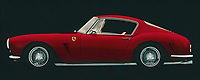 Development of the Ferrari 250 GT SWB Berlinetta was handled by Giotto Bizzarrini, Carlo Chiti, and young Mauro Forghieri, the same team that later produced the 250 GTO. Disc brakes were a first on a Ferrari GT, and the combination of low weight, high power, and well-sorted suspension made it competitive. It was unveiled at the Paris Motor Show in October and quickly began selling and racing. The SWB Berlinetta won Ferrari the GT class of the 1961 Constructor's Championship. Also won 1960, 1961 and 1962 Tour de France Automobile before giving ground to the GTO's. – -<br /> BUY THIS PRINT AT<br /> <br /> FINE ART AMERICA<br /> ENGLISH<br /> https://janke.pixels.com/featured/ferrari-250-gt-swb-berlinetta-1957-side-view-jan-keteleer.html<br /> <br /> WADM / OH MY PRINTS<br /> DUTCH / FRENCH / GERMAN<br /> <br /> https://www.werkaandemuur.nl/nl/shopwerk/Ferrari-250-GT-SWB-Berlinetta-1957-zijaanzicht/589388/132<br /> -