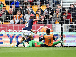 Millwall's Jamie Philpot scores soon after coming on as substitute in his first senior game - Photo mandatory by-line: Paul Knight/JMP - Mobile: 07966 386802 - 02/05/2015 - SPORT - Football - Wolverhampton - Molineux Stadium - Wolverhampton Wanderers v Millwall - Sky Bet Championship