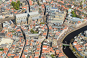 Nederland, Noord-Holland, Haarlem, 09-04-2014; centrum met Grote of Sint Bavokerk.<br /> City Haarlem.<br /> luchtfoto (toeslag op standard tarieven);<br /> aerial photo (additional fee required);<br /> copyright foto/photo Siebe Swart